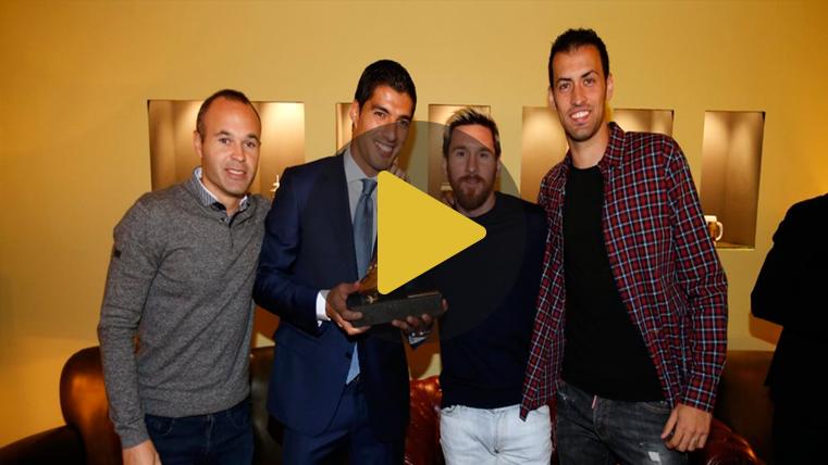Lo que no se vio de la gala de la Bota de Oro de Luis Suárez