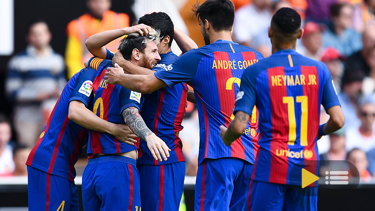 Video resumen: Valencia 2 FC Barcelona 3 (Liga J9)