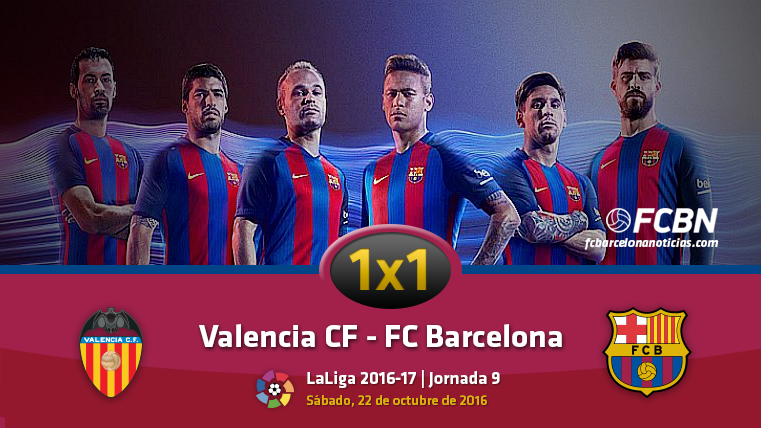 El 1x1 del FC Barcelona frente al Valencia CF