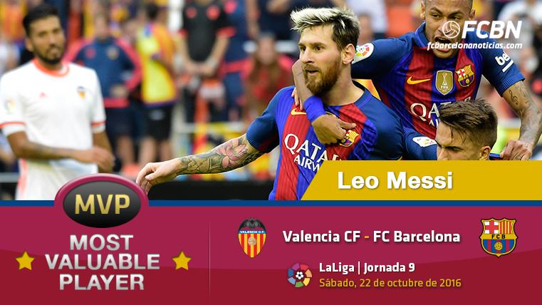 """Leo Messi, el """"MVP"""" del FC Barcelona ante el Valencia CF"""