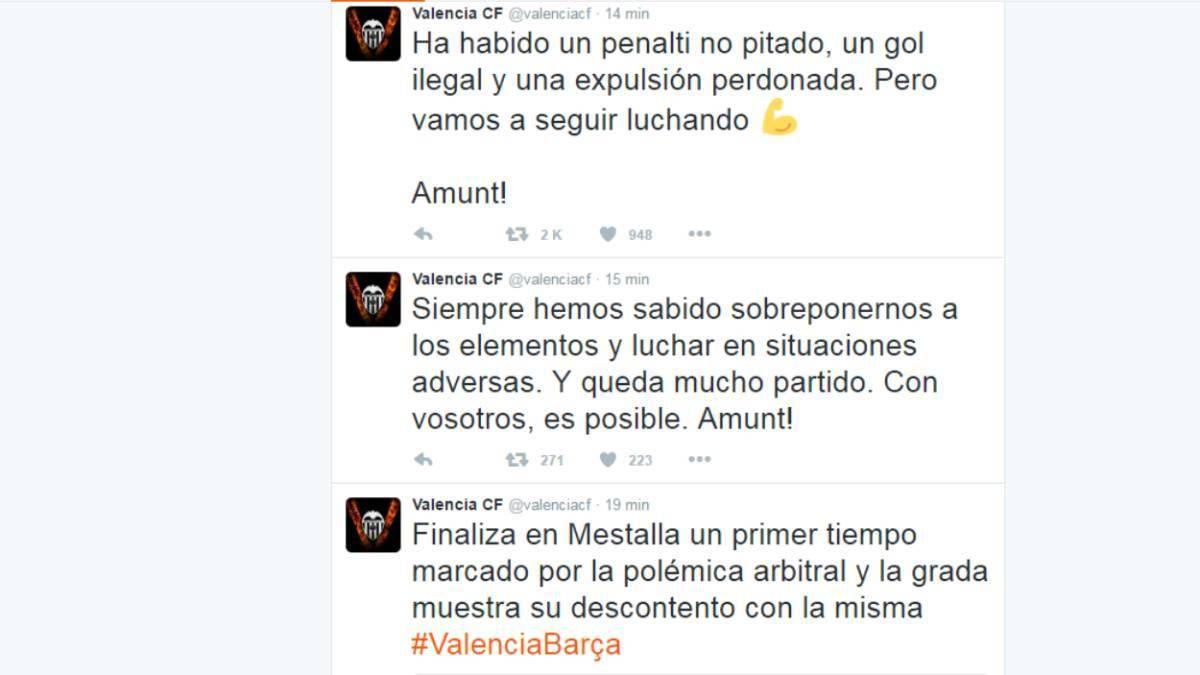 Lamentable: El Twitter del Valencia carga contra Undiano