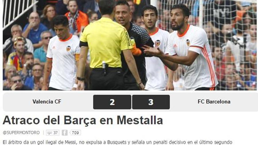 La prensa de Valencia clama contra el arbitraje de Undiano