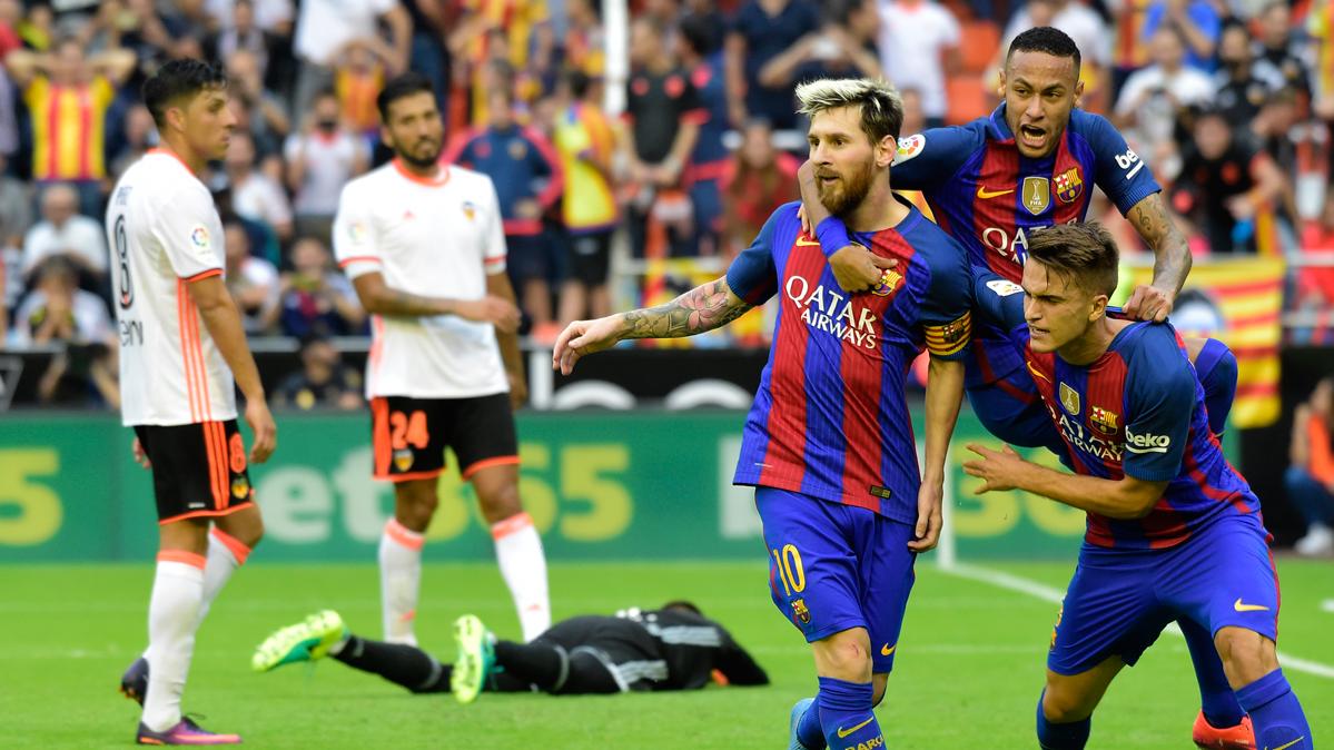 Messi explica c�mo vivi� el problem�tico Valencia-Bar�a