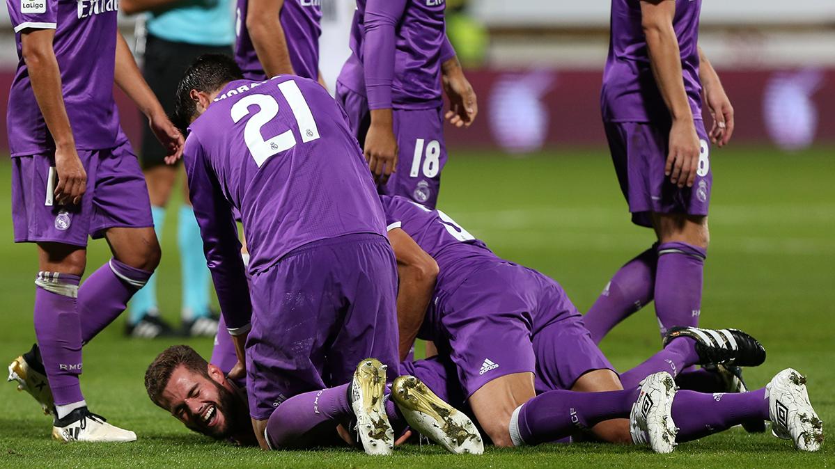 Paseo del Real Madrid ante la Cultural Leonesa (1-7)