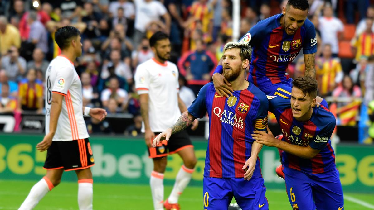 Los insultos y provocaciones de Mestalla a Messi y al Barça