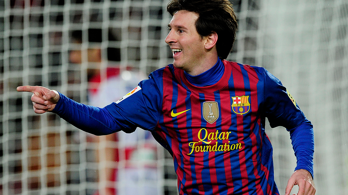 Leo Messi, ante una de sus v�ctimas favoritas: el Granada