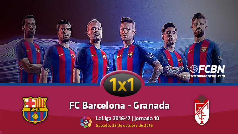 El 1x1 del FC Barcelona frente al Granada CF (Liga J10)