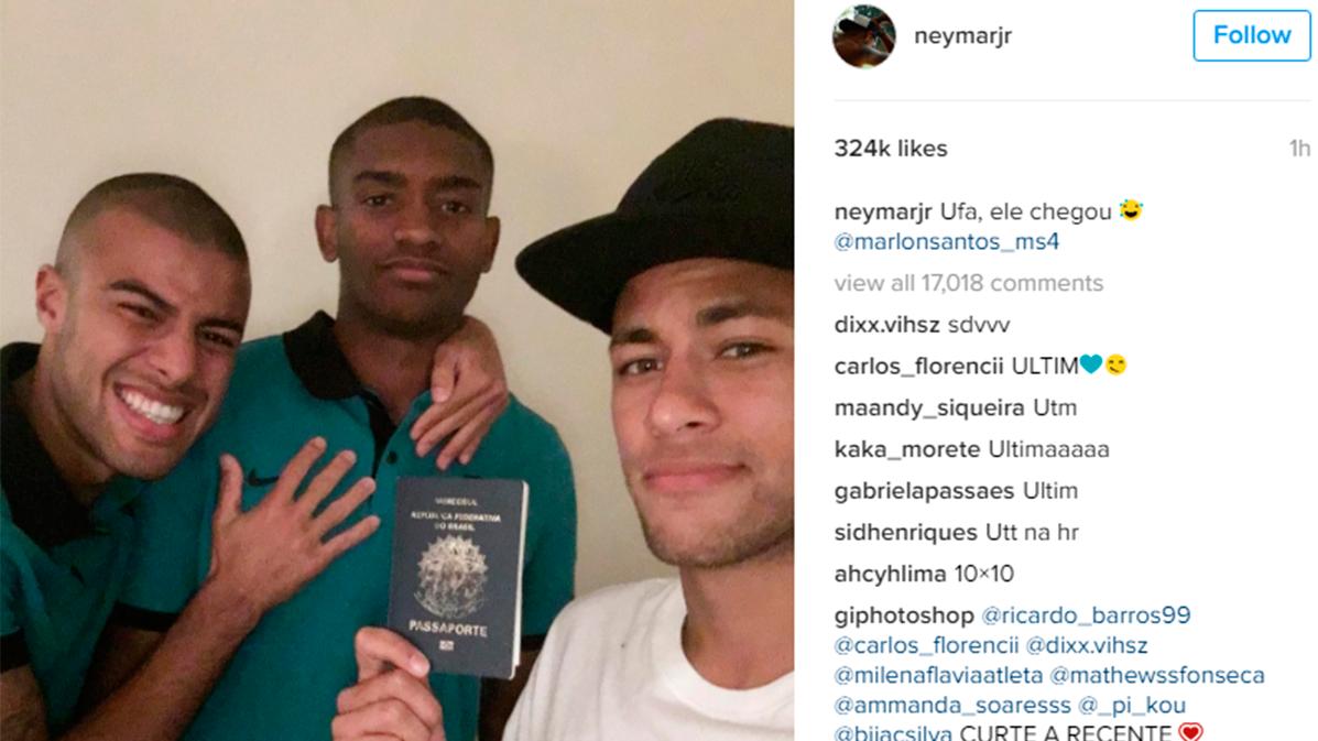 Neymar Jr y Rafinha también se cachondearon de Marlon