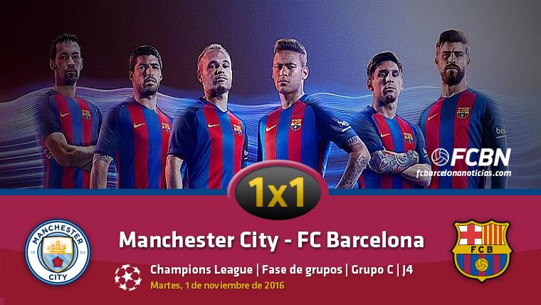 El 1x1 de los jugadores del Barça frente al Manchester City