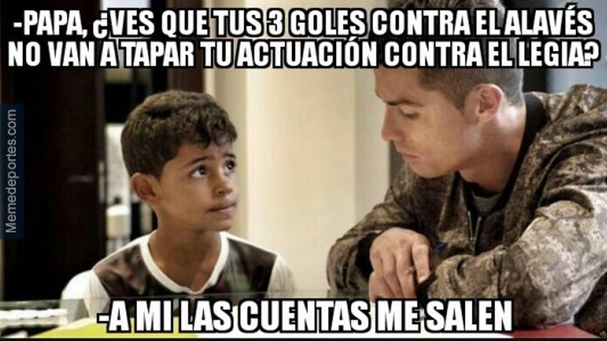 """Estos son los mejores """"memes"""" del Legia-Real Madrid"""