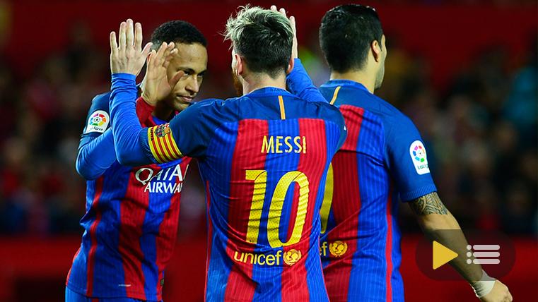 Vídeo resumen: Sevilla FC 1 FC Barcelona 2 (Liga J11)
