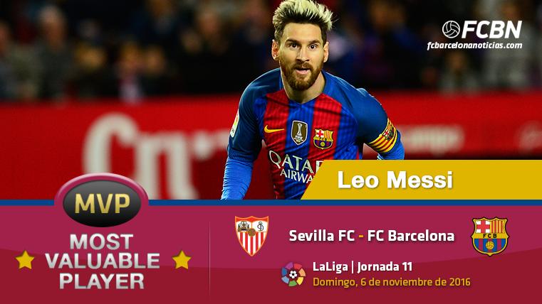 """Leo Messi, el """"MVP"""" del FC Barcelona contra el Sevilla"""