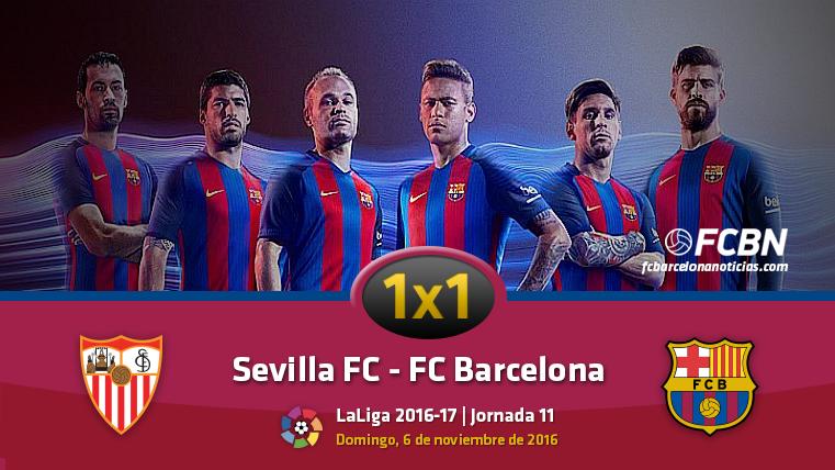 El 1x1 del FC Barcelona contra el Sevilla FC (Liga J11)