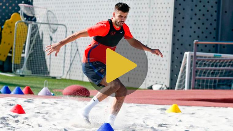 Gerard Piqué y Jordi Alba apuran para estar ante el Málaga