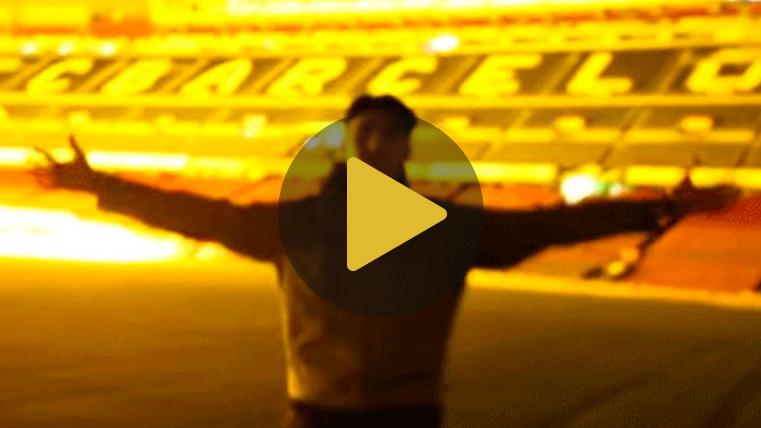 Se cuelan en el Camp Nou y graban espectaculares imágenes