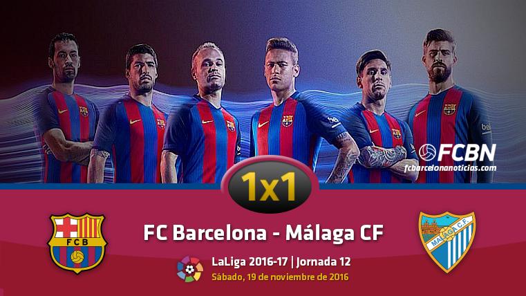 El 1x1 del FC Barcelona frente al Málaga CF (Liga J12)