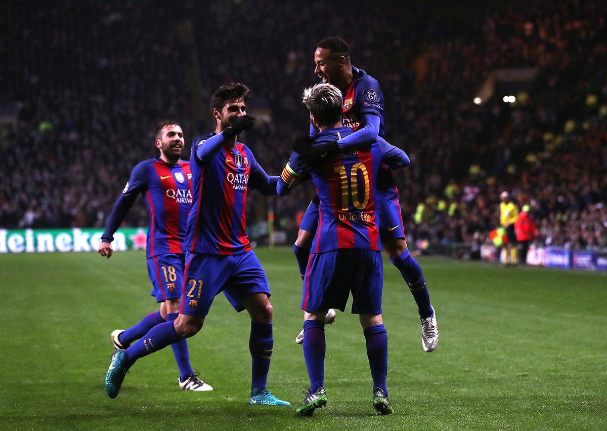 Los cracks del FC Barcelona, todos a una tras la victoria