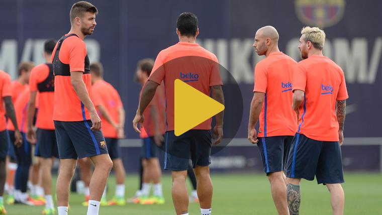 Umtiti y Piqué, novedades en la última sesión del Barça