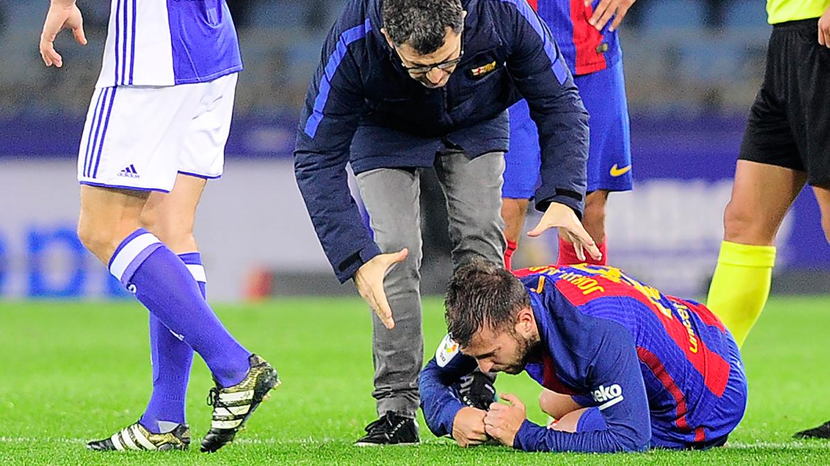 Lesión triple de Jordi Alba, que preocupa para el Clásico