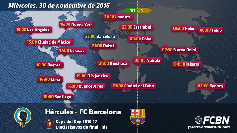 Horarios y TV del Hércules vs FC Barcelona de Copa
