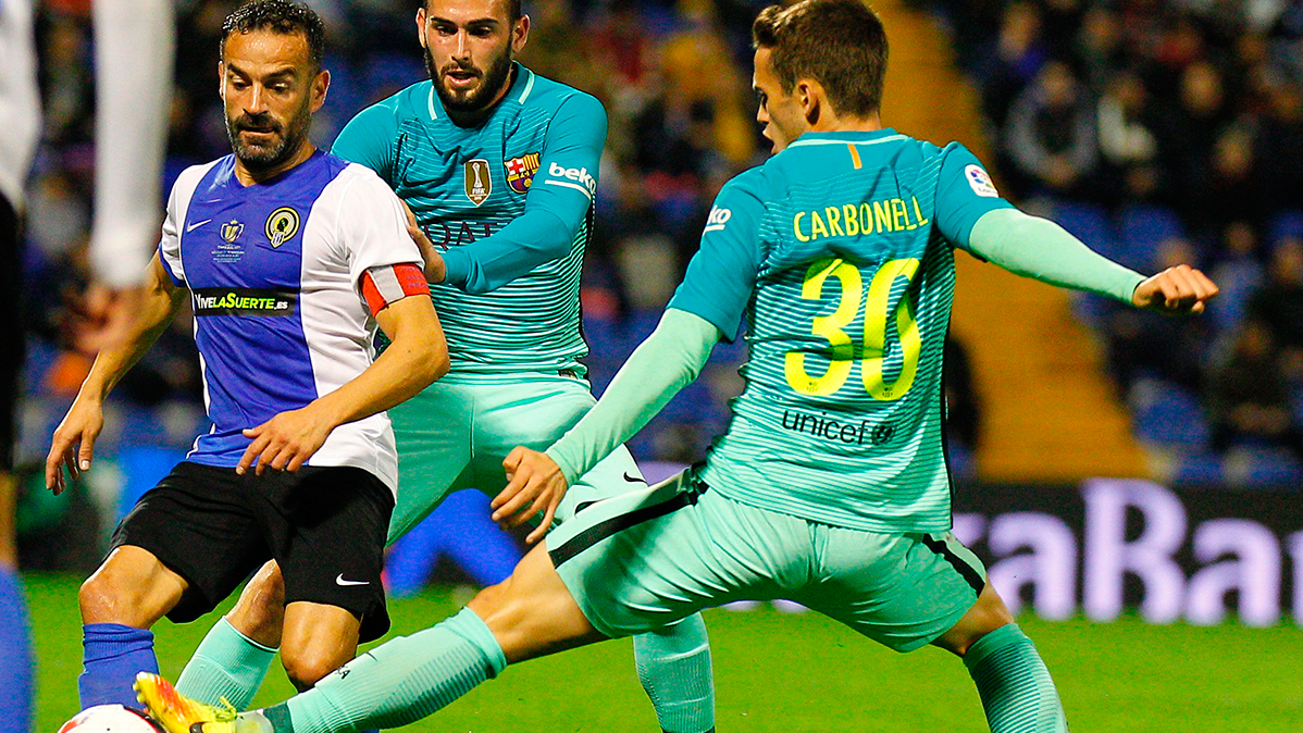Alex Carbonell, uno de los canteranos que debutó con el Barça ante el Hércules