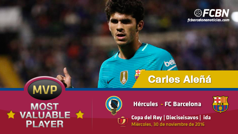 """Carles Aleñá, el """"MVP"""" del FC Barcelona frente al Hércules"""