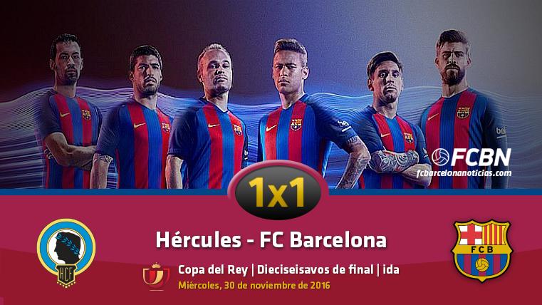 El 1x1 del FC Barcelona frente al Hércules CF en Copa