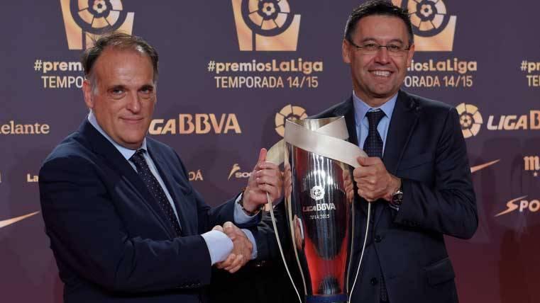 El Barça se reunió con Tebas la semana del Clásico