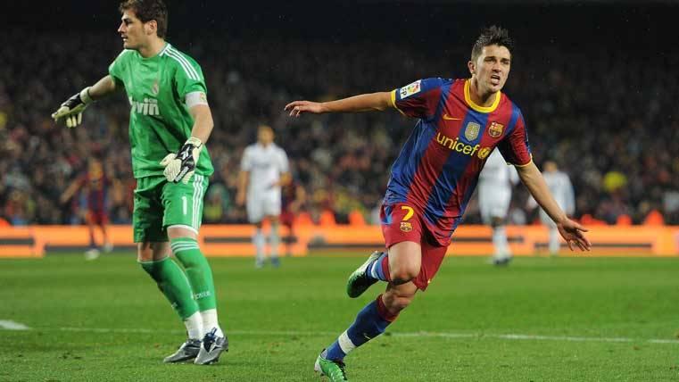 Resultat d'imatges de david villa gol contra el madrid barça