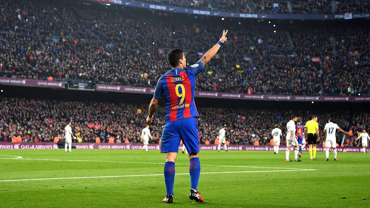 Luis Suárez sigue su idilio con el gol ante el Madrid