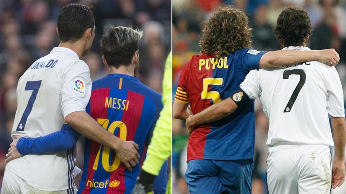 """Cristiano y Messi """"copiaron"""" a Puyol y Raúl en el Clásico"""