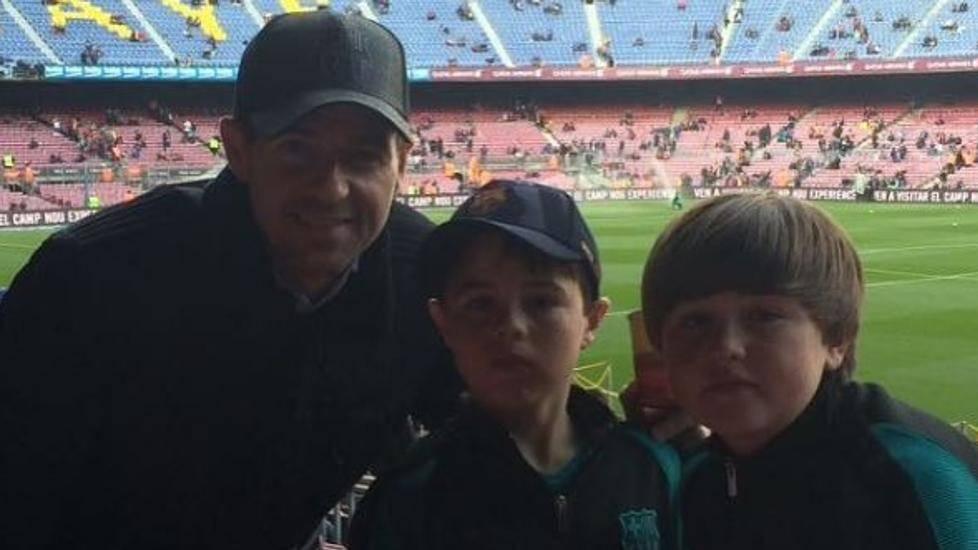 Steven Gerrard, un culé más en el Barça-Madrid