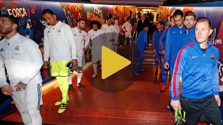 Mira cómo se vivió la previa Barça-Madrid en el túnel