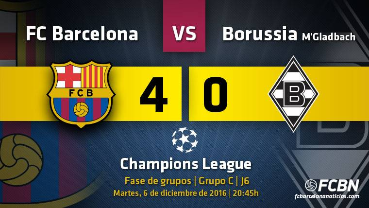 El Barça, a octavos de Champions League por la puerta grande