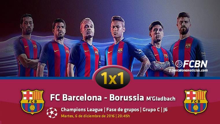 El 1x1 del FC Barcelona frente al Borussia Mönchengladbach