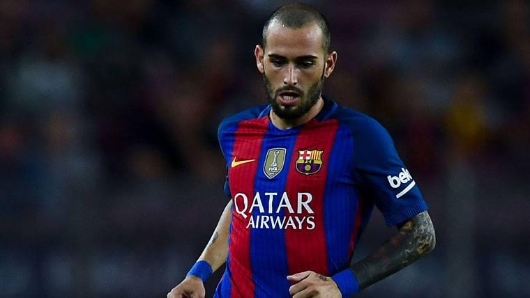 Aleix Vidal, durante un partido del FC Barcelona este curso