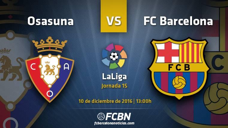 Osasuna-FC Barcelona: El Sadar examina la recuperación culé