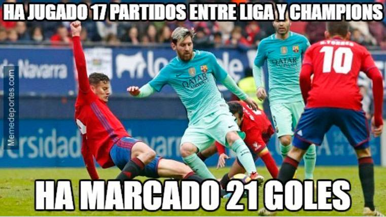 """Estos son los mejores """"memes"""" del Osasuna-FC Barcelona"""