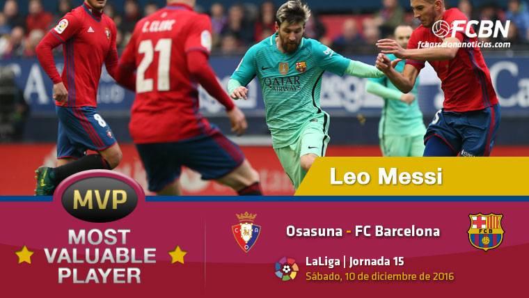 """Leo Messi, el """"MVP"""" del FC Barcelona contra Osasuna"""