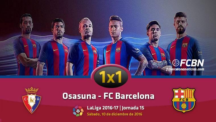 El 1x1 del FC Barcelona contra Osasuna (Liga J15)