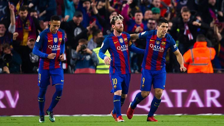 Neymar Júnior, Leo Messi y Luis Suárez tienen números parecidos como trío