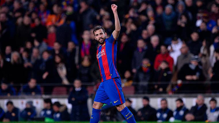 """Jordi Alba, la """"moto GP"""" del Barça ya es el 12º goleador culé"""