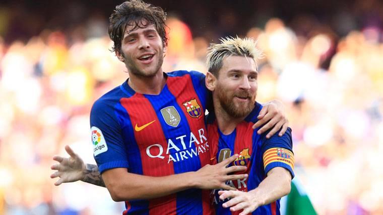 """Sergi Roberto, tajante: """"Messi está a años luz de Cristiano"""""""