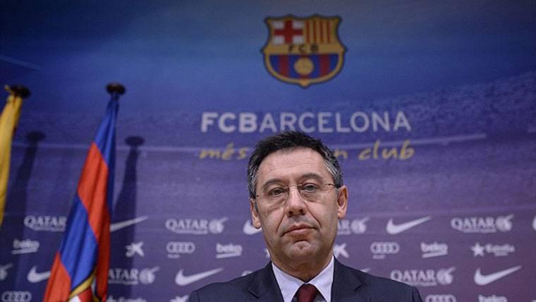 Josep Maria Bartomeu, durante la rueda de prensa para hacer balance de 2016