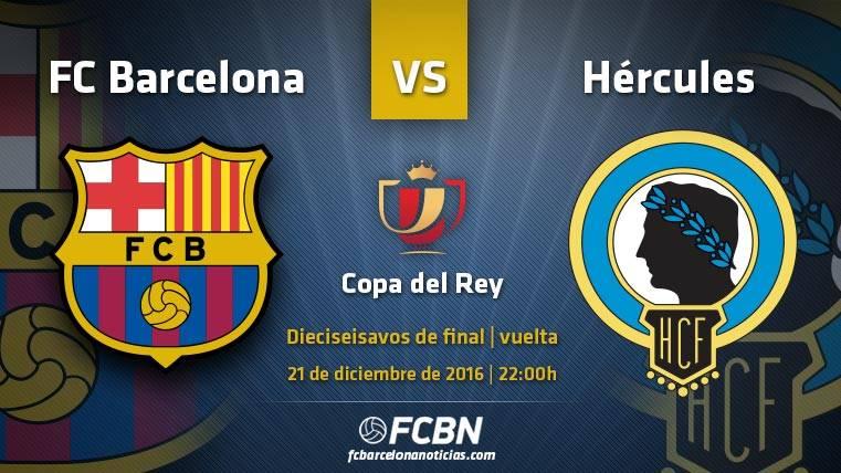 Barcelona-Hércules: A terminar el año con el pase octavos