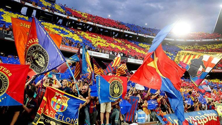 La Liga denuncia hasta cánticos del Espai d'Animació del Barça