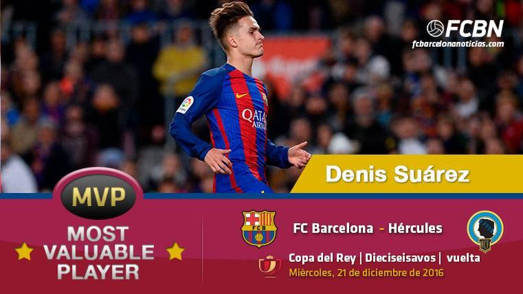 """Denis Suárez, el """"MVP"""" del FC Barcelona ante el Hércules (Copa)"""