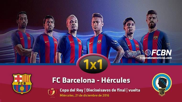 Este es el 1x1 del FC Barcelona frente al Hércules (Copa)