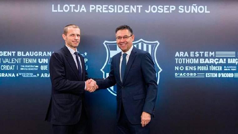 El presidente de la UEFA confirma las buenas relaciones