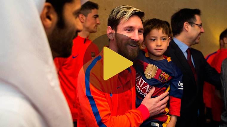 De Cruyff a los gestos de la MSN, el Barça más solidario en 2016